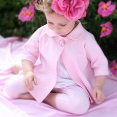 Swing coat and legging set for baby little girls, soft cotton adorable coat and great baby gift.  GigisApparel