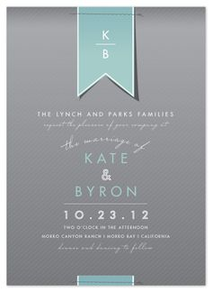 classy invitations by Citrus Press Co.