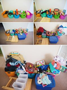 The 10x5 strategy to declutter. Similar to 40 bags in 40 days but for families - each member of the family gets rid of 10 items per day for 5 days.