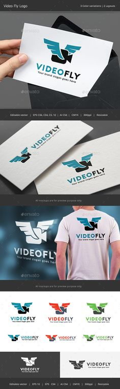 Video Fly Drone Logo — Vector EPS #remote #shoot • Available here → https://graphicriver.net/item/video-fly-drone-logo/13870977?ref=pxcr