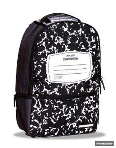 I. Love. This!! I am a total composition notebook junkie for writing and this backpack rules!