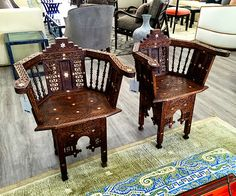 Moroccan chairs at Anthony Lawrence Home