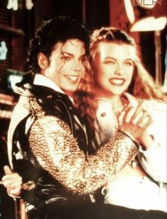 Michael Jackson and Milla Jovovich for LA Gear 1990.