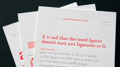 This series of three type specimens was the result of a collaboration with Denver-based graphic designer, Amy Kitt. Amy designed this beautifully vibrant piece and we letterpress printed it for purpose of submission to PRESSED! An Exhibition of Letterpress Printed Ephemera in Denver, Colorado last year.