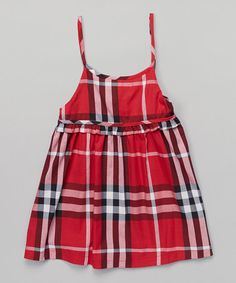 Take a look at this Red Plaid Babydoll Dress - Toddler & Girls on zulily today!
