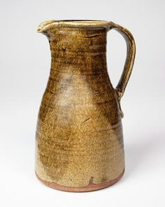 Bernard Leach, Tall jug, slightly e...