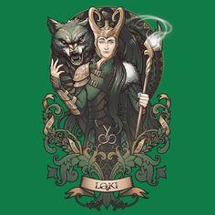 Loki-Green-LadyTee