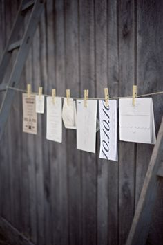 what a fun way to display your invitation at the wedding... multi-purpose decorating!