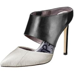 Sam Edelman Women's Monroe Slide Pump ($45) ❤ liked on Polyvore featuring shoes, pumps, slip on pumps, pointy-toe pumps, two tone shoes, two-tone pumps and pointy toe shoes