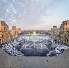 Jr at Musée du Louvre, Paris, 2019