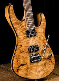 Suhr Modern Custom Waterfall Burl Maple / Mahogany Electric Guitar - Natural Gloss | Reverb