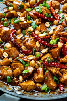Kung Pao Chicken kung pao chicken is a highly addictive pan fried chicken with the perfect combination of salty, sweet and spicy flavor! Make Kung Pao Chicken better t. Lunch Recipes, Meat Recipes, Asian Recipes, Chicken Recipes, Dinner Recipes, Cooking Recipes, Healthy Recipes, Ethnic Recipes, Cooking Tips