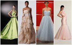 Dresses by: Peter Langner; Vera Wang; Reem Acra; Britta Kjerkegaard     2013 wedding dresses