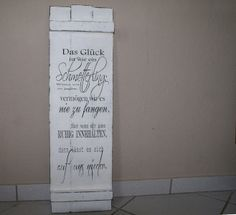 Schild Holz Shabby Chic Spruch von white-living-art auf DaWanda.com