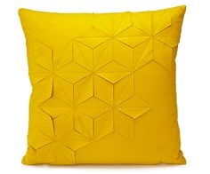 This geometric pillow   26 Incredible Things For People Who Love Yellow