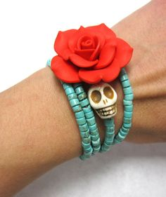 Gothic Wedding Day Of The Dead Bracelet Sugar by sweetie2sweetie, $27.99