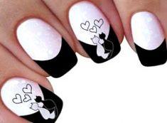 IMAGENS DE ADESIVOS DE UNHAS: 25 de 200 Imagens Adesivos para Unha-Parte 2 (+Oferta) #NailPolishDesign Nail Art Designs, Square Nail Designs, Acrylic Nail Designs, Acrylic Nails, Cat Nail Art, Cat Nails, Nail Art Disney, Mickey Nails, Valentine Nail Art