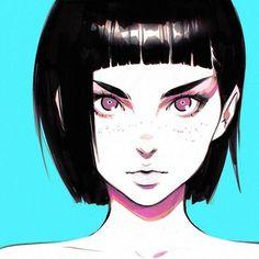 Imagem de art, anime girl, and drawing