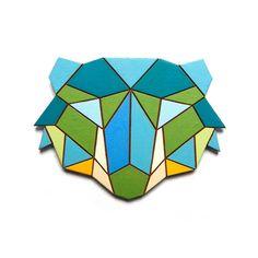 Geometric bear necklace, NanuShoppe on Etsy