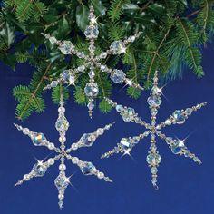 Nostalgic Christmas Beaded Sparkling Snowflakes Ornaments Kit