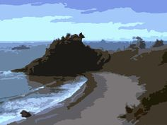 Oceanscape View Acrylic Popart Painting 16 x 20 by DesignsByGramma Pop Art, Original Art, Ocean, Etsy Shop, Vacation, World, Beach, Water, Check