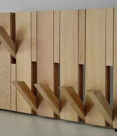 Ideas modern wood furniture diy coat racks for 2019 Wood Coat Hanger, Diy Coat Rack, Coat Racks, Diy Furniture Projects, Woodworking Projects Diy, Cool Wood Projects, Furniture Buyers, Luxury Furniture, Modern Wood Furniture