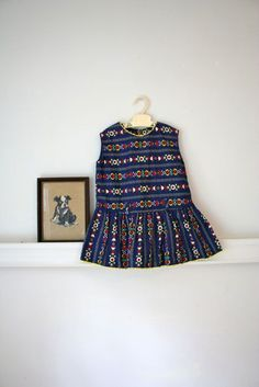 Vintage folklore dress via Etsy