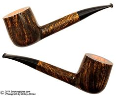 Straight stem billiard. High contrast grain.