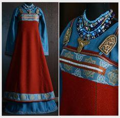 by Ekaterina Savelyeva. Viking dress, interpretation of one found in a grave, dated 735.