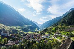 #grandtraintour #swisstravelpass Switzerland Summer, Switzerland Tour, Travel Flights, Train Tour, Summer 2016, Tours, Mountains, Green, Bergen