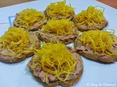El Blog de Eloweyn: Canapés de foie y huevo hilado