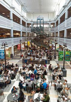 Johnson Center- Food Court. Photo courtesy of Creative Services, George Mason University