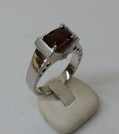 Vintage Ringe - Ring Silber 925 Silberring Granat Vintage SR712 - ein Designerstück von Atelier-Regina bei DaWanda
