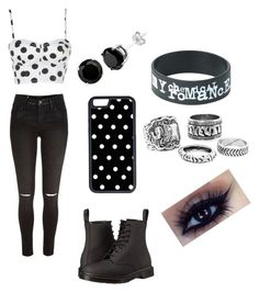 """Untitled #170"" by momoso379 ❤ liked on Polyvore featuring River Island, Dr. Martens and CellPowerCases"