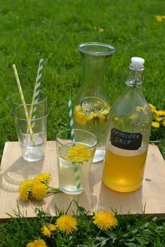 Pampeliškový sirup, nevařený Smoothie Drinks, Smoothies, Cold Drinks, Alcoholic Drinks, Nordic Interior, My Secret Garden, Juice, Food And Drink, Homemade