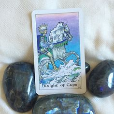 Today's daily draw is the Knight of Cups! In the tarot Knights symbolize the bringing of a message. This Knight is bringing the message of romance imagination sensitivity and introspection!  This Knight is in touch with his intuition and emotions and invites you to touch in with your emotions and your powerful intuition. This Knight is bringing you a message of good news a message to charge you up leaving you ready for action.  Now is the time to take on something creative to look for that…