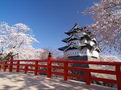 Hirosaki-jou castle, Aomori Places To Travel, Places To Go, Japanese Castle, Aomori, Nihon, Palaces, Castles, Sick, Scenery