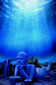 Cancun Underwater Museum, Mexico -- Divers and snorkellers will have the opportunity to admire more than 400 original sculptures. Wat.