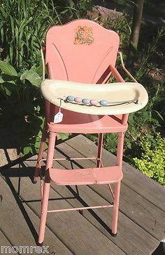 vintage metal baby doll high chair   wonderful vintage   pinterest