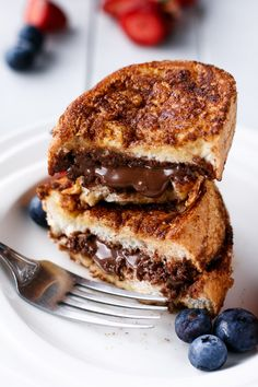 Nutella Stuffed Churro French Toast on MyRecipeMagic.com