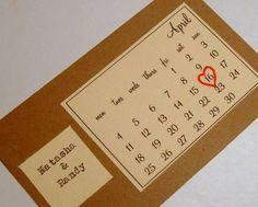 """Gute Idee für die """"Save the Date - Karte"""""""