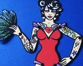 Posable OCTOPUS Paper Doll Old School Tattoo Art Pinup