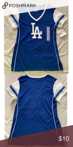 LA Dodgers jersey top Dodger jersey like v-neck top. Never worn and great 458383ff6d2