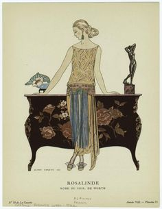 Fashion Friday: French Evening Wear From 1922 | The Bees Knees DailyThe Bees Knees Daily