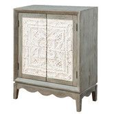 Found it at Wayfair - Lodge Dusty Miller Cabinet