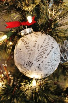 Christmas Ornament Vintage sheet music by Houseof3 on Etsy, $8.00