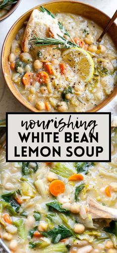 Best Soup Recipes, Vegetarian Recipes, Healthy Recipes, Vegetarian Stew Crockpot, Healthy Soups, Kitchen Recipes, Cooking Recipes, Lemon Soup, Quick And Easy Soup