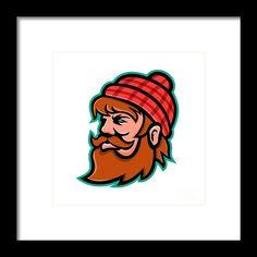 Paul Bunyan Lumberjack Mascot Framed Print by Aloysius Patrimonio Paul Bunyan, Minnesota, Winnie The Pooh, Retro Fashion, Fine Art America, Disney Characters, Fictional Characters, Framed Prints, Artwork