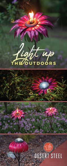 Add ambiance, color, light and texture to your garden or outdoor space!
