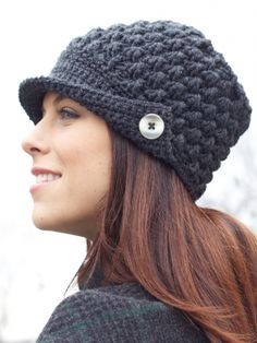 cute hat with free pattern :)